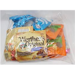 BAG OF ASSORTED WERTHERS CANDY AND KERR CANDY