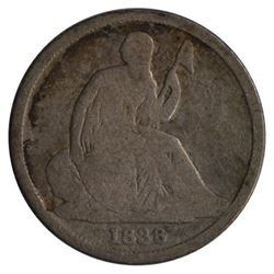 1838-O Seated Liberty No Stars Dime