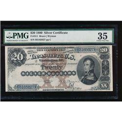 1880 $20 Silver Certificate PMG 35