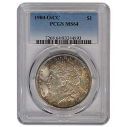 1900-O/CC $1 Morgan Silver Dollar Coin PCGS MS64