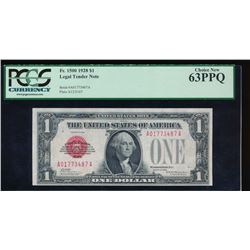 1928 $1 Legal Tender Note PCGS 63PPQ