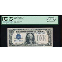 1928C $1 Silver Certificate PCGS 63PPQ
