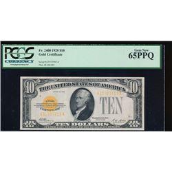 1928 $10 Gold Certificate PCGS 65PPQ