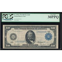 1914 $50 Cleveland Federal Reserve Note PCGS 30PPQ