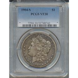 1904-S $1 Morgan Silver Dollar Coin PCGS VF30