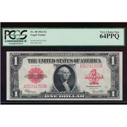 1923 $1 Legal Tender Note PCGS 64PPQ