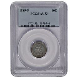 1889-S Seated Liberty Head Dime PCGS AU53