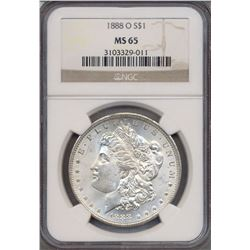 1888-O $1 Morgan Silver Dollar Coin NGC MS65