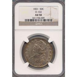 1831 Liberty Bust Half Dollar Coin NGC AU58