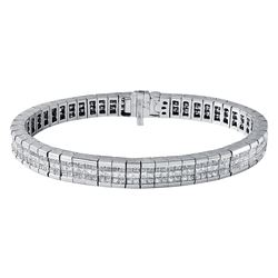 18KT White Gold 7.55ctw Diamond Bracelet