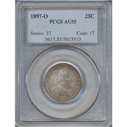 1897-O Barber Quarter Coin PCGS AU55