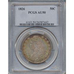 1826 Liberty Bust Half Dollar Coin PCGS AU50