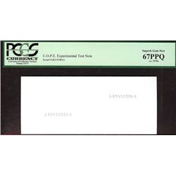 COPE Experimental Test Note PCGS 67PPQ