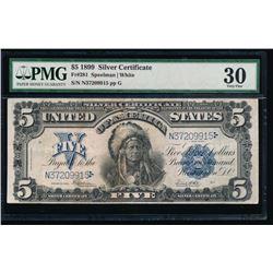 1899 $5 Chief Silver Certificate PMG 30