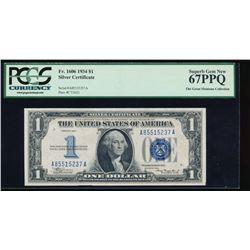 1934 $1 Silver Certificate PCGS 67PPQ