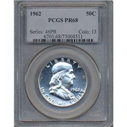 1962 Franklin Half Dollar Coin PCGS PR68