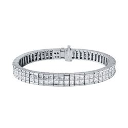 14KT White Gold 7.15ctw Diamond Bracelet