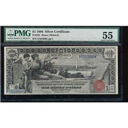 1896 $1 Silver Certificate PMG 55
