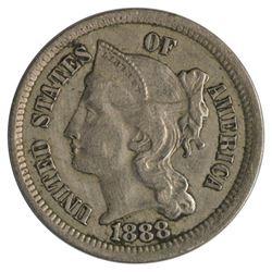 1888 Three Cent Nickel Coin