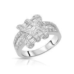 14KT White Gold 1.38ctw Diamond Ring