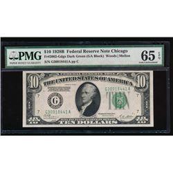 1928B $10 Chicago Federal Reserve Note PMG 65EPQ