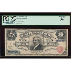 1886 $10 Silver Certificate PCGS 30