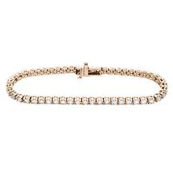 14KT Rose Gold 5.00ctw Diamond Tennis Bracelet