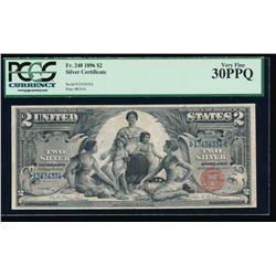1896 $2 Silver Certificate PCGS 30PPQ