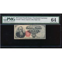 50 Cent Fourth Issue Fractional Note PMG 64