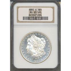 1880-S $1 Morgan Silver Dollar Coin NGC MS65 DPL