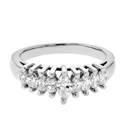 Platinum 0.79ctw Diamond Ring