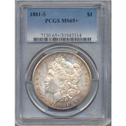 1881-S $1 Morgan Silver Dollar Coin PCGS MS65+