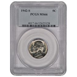 1942-S Jefferson Nickel PCGS MS66
