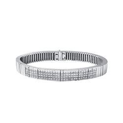 18KT White Gold 5.58ctw Diamond Bracelet