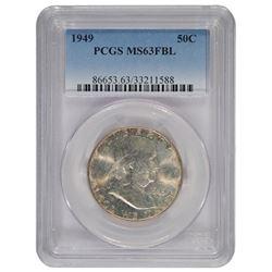 1949 Franklin Half Dollar Coin PCGS MS63FBL