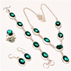 Green Emerald 4 Piece Jewelry Set