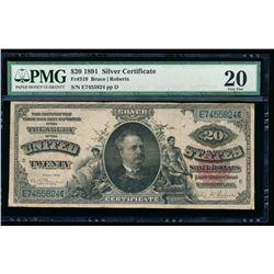 1891 $20 Silver Certificate PMG 20