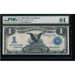 1899 $1 Black Eagle Silver Certificate PMG 64