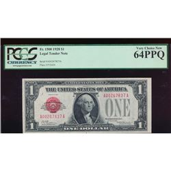1928 $1 Legal Tender Note PCGS 64PPQ