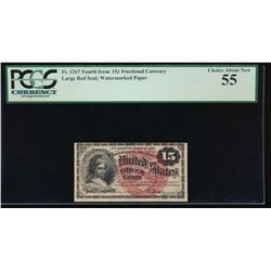15 Cent Fractional Currency Note PCGS 55