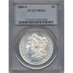 1880-S $1 Morgan Silver Dollar Coin PCGS MS64