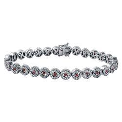 18KT White Gold Ruby and Diamond Bracelet