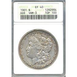 1901 $1 Morgan Silver Dollar Coin ANACS EF40