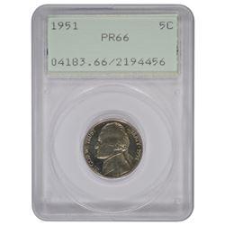 1951 Jefferson Nickel PCGS PR66