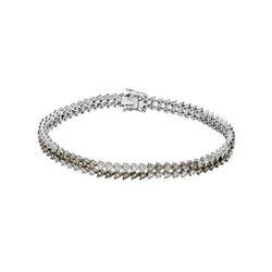 14KT White Gold 4.10ctw Diamond Bracelet