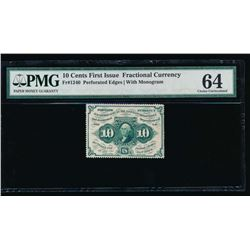 10 Cent Fractional Currency Note PMG 64