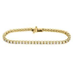 14KT Yellow Gold 5.00ctw Diamond Tennis Bracelet