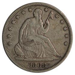 1868 Seated Liberty Half Dollar Coin