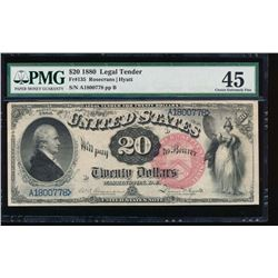 1880 $20 Legal Tender Note PMG 45