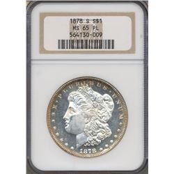 1878-S $1 Morgan Silver Dollar Coin NGC MS65PL